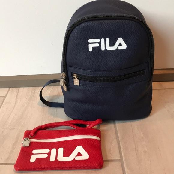 FILA Mini Backpack   Wristlet Set
